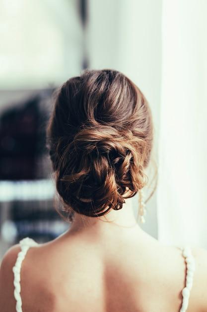 Mariée en robe de mariée Photo Premium