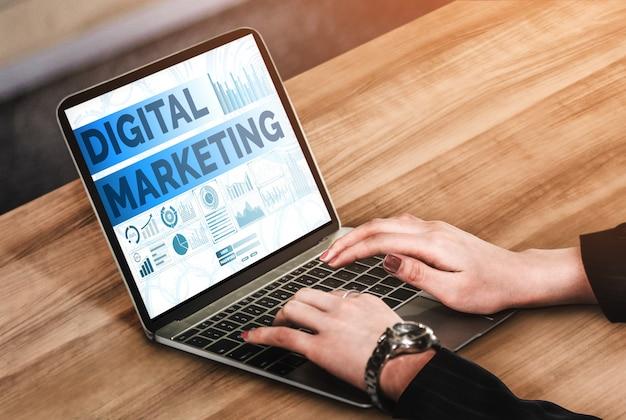 Marketing Des Affaires De Technologie Numérique Photo Premium