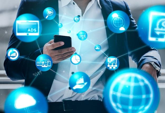 Marketing Du Concept D'entreprise De Technologie Numérique Photo Premium