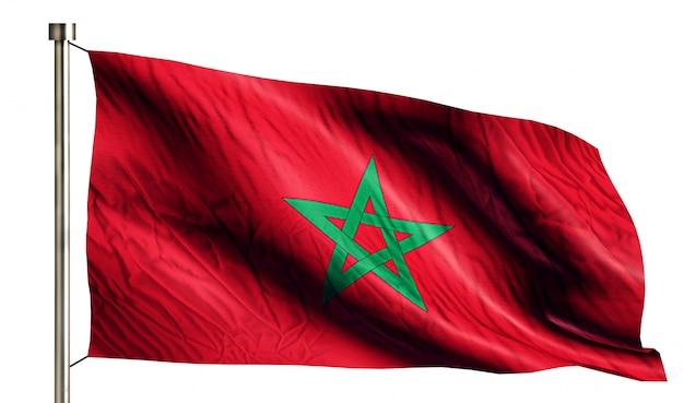 Maroc National Flag Isolated 3d Fond Blanc Photo gratuit