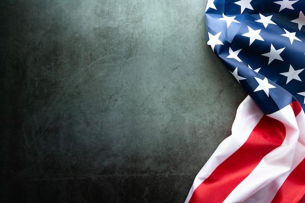 Martin Luther King Day Anniversary - Drapeau Américain Sur Fond Abstrait Photo Premium