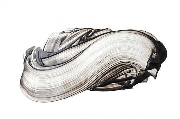 Masque facial à l'argile ou au charbon sur fond blanc Photo Premium