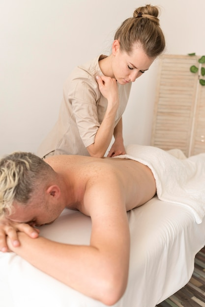 Masseuse, Massage, Homme Photo Premium