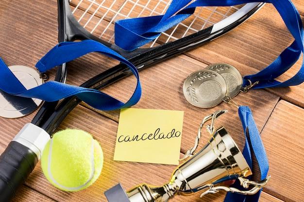 Match De Tennis Annulé Photo Premium