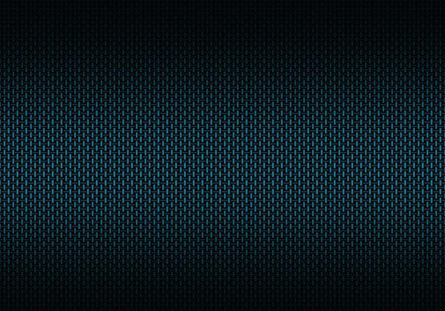 Matériau texturé abstrait en fibre de carbone bleue Photo Premium