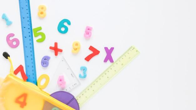 Mathématiques Avec Des Nombres Et Copie Espace Photo gratuit