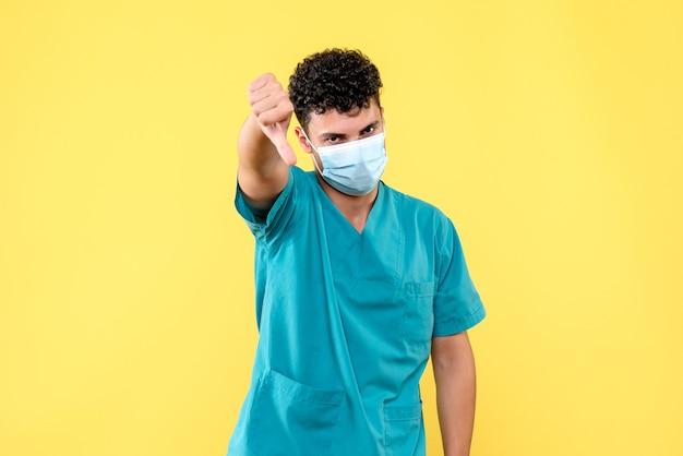 Médecin De Face, Le Médecin Parle Des Lacunes Des Médicaments Photo gratuit