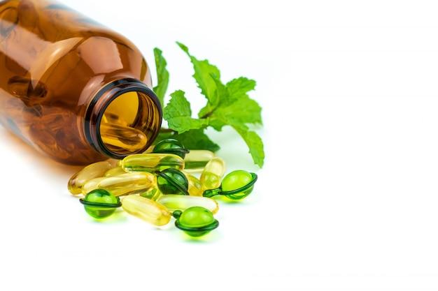 Médecine Alternative, Vitamines Et Suppléments D'herbes Naturelles Photo Premium