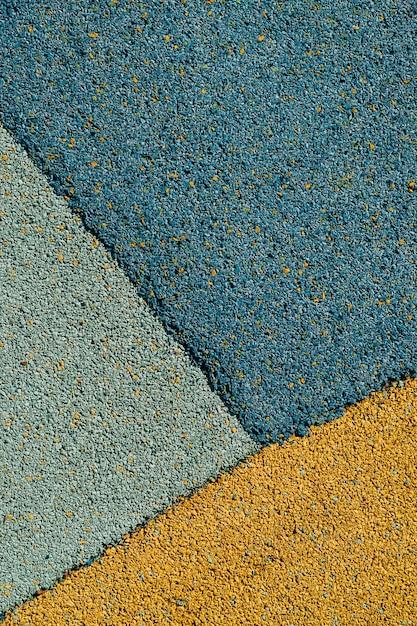 Un Mélange D'asphalte Bleu Et Orange Photo Premium