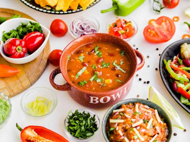 Mélange De Nourriture Mexicaine Photo gratuit