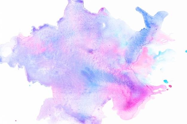 Mélange de peinture bleue et fuchsia Photo gratuit