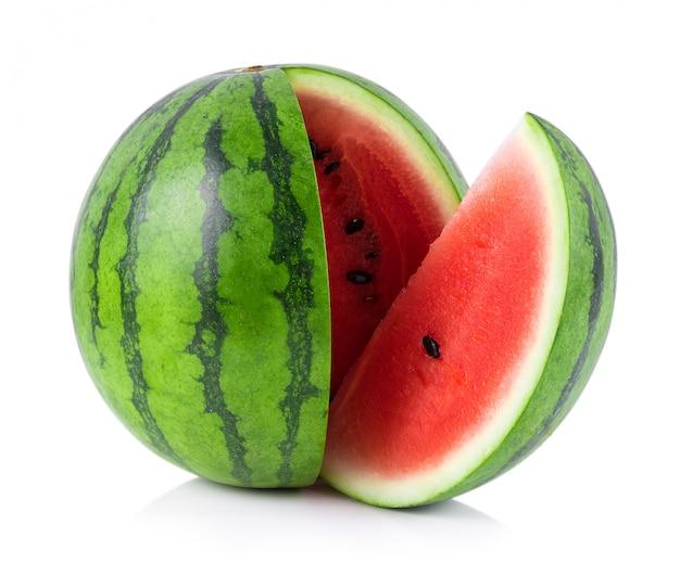 Melon D'eau Isolé Sur Fond Blanc Photo Premium