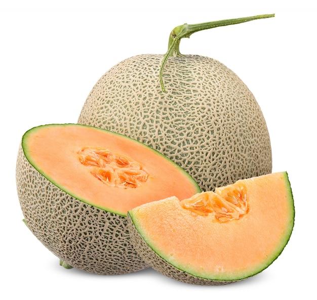 Melon Isolé Avec Un Tracé De Détourage Photo Premium