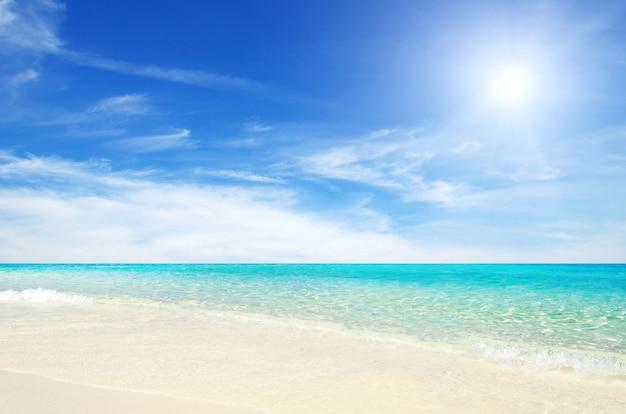 Mer Tropicale Et Plage De Sable Photo Premium