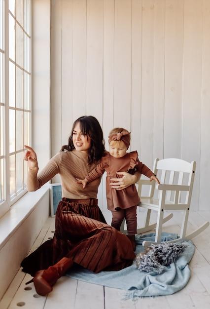 Mère Et Bébé Jouant Photo gratuit
