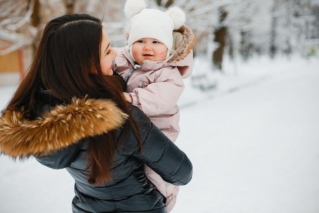 Mère avec fille Photo gratuit