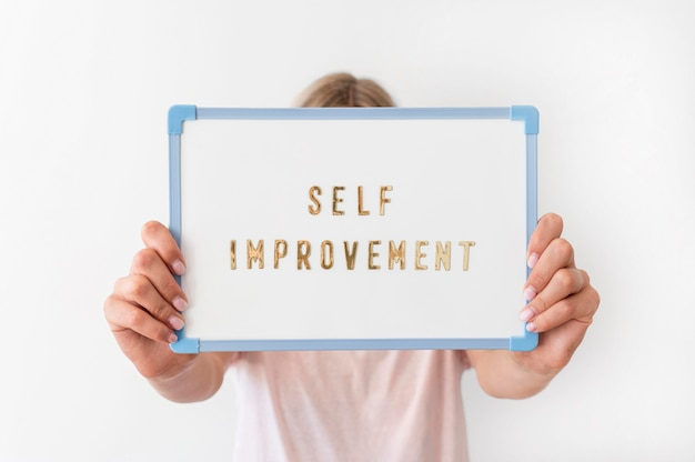Message D'amélioration Personnelle En Gros Plan Photo gratuit