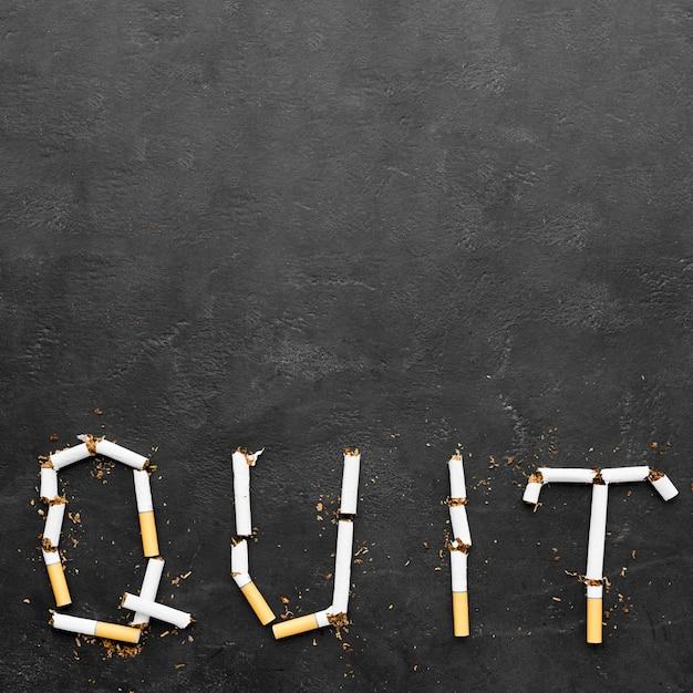 Message De Cesser De Fumer Dans L'espace De Copie Photo gratuit