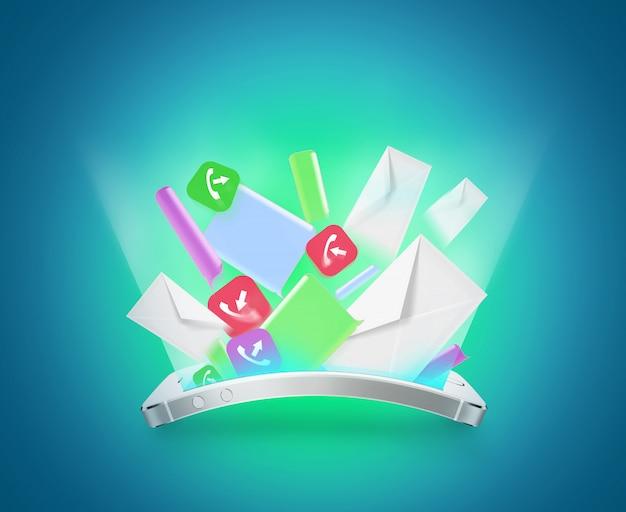 Message de communication téléphonique Photo Premium