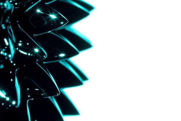 Métal liquide ferromagnétique en gros plan avec espace de copie Photo gratuit