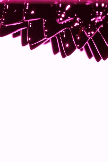 Métal liquide ferromagnétique violet avec espace de copie Photo gratuit