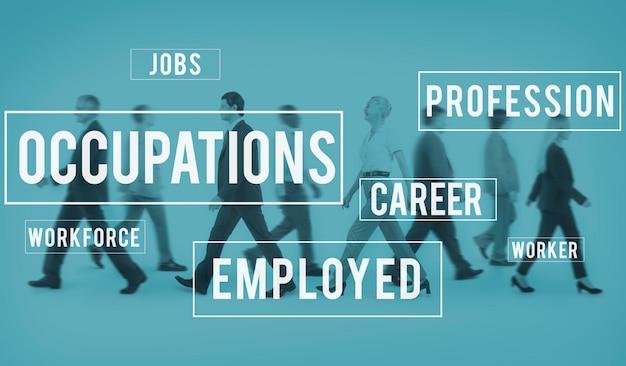 Métiers carrière emploi recrutement concept de poste Photo gratuit