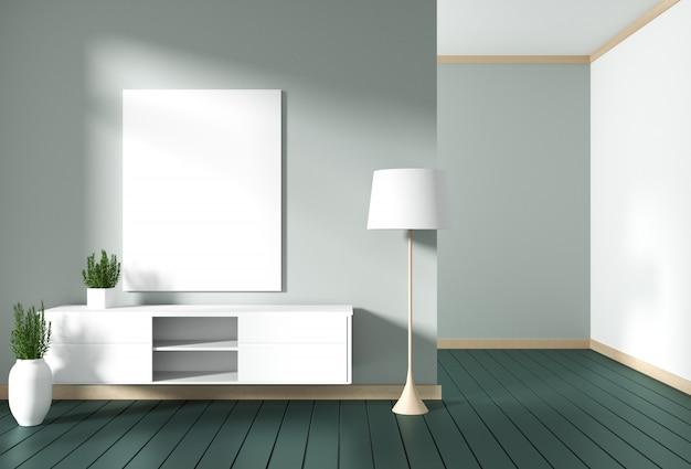 Meuble De Television Dans Une Chambre Moderne Verte Un
