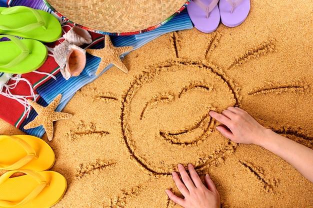 Mexique souriant plage soleil Photo Premium