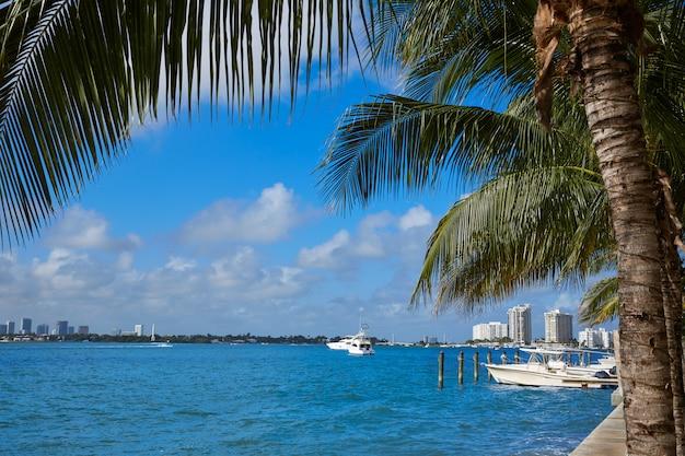 Miami beach de macarthur causeway florida Photo Premium