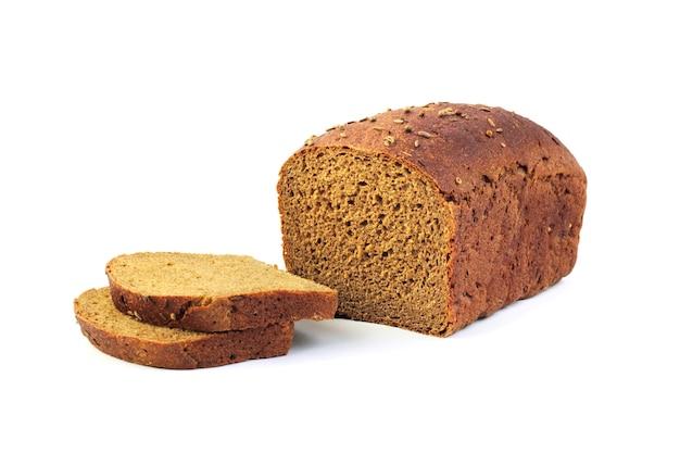 Miche de pain de seigle avec des tranches Photo Premium