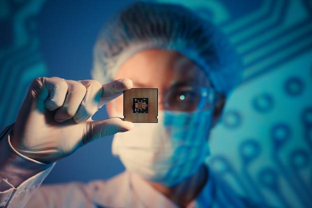 Microchip Pour L'analyse Photo Premium