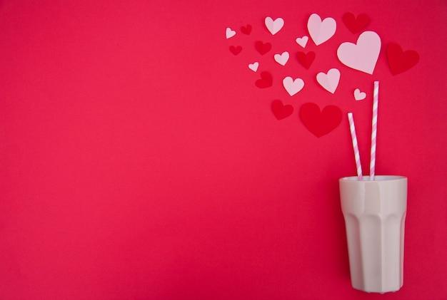 Milkshake Pour Deux - St. Valentine Concept Photo gratuit