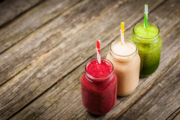 Milkshakes Et Smoothies Photo Premium
