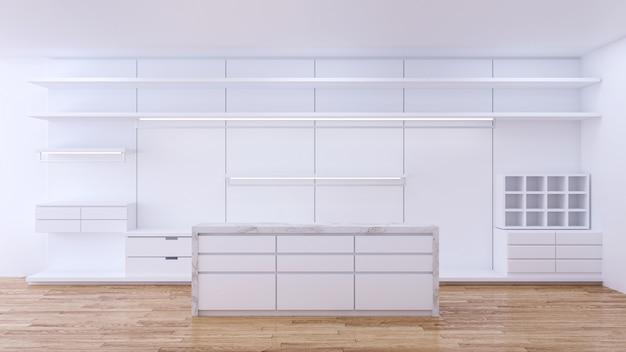 Minimaliste moderne de l'intérieur du vestiaire Photo Premium