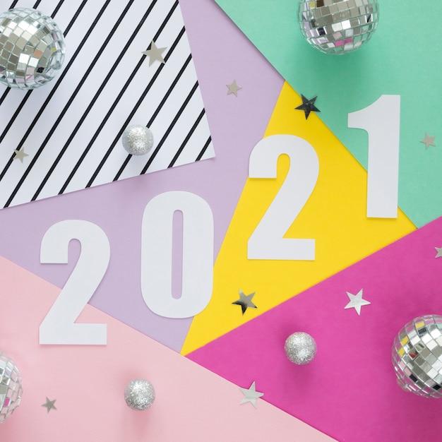 Mise à Plat Du Beau Concept De Nouvel An Photo gratuit