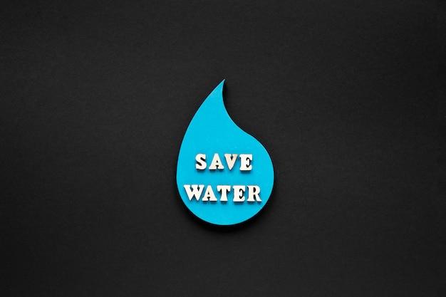 Mise à Plat De Goutte D'eau Avec Message Photo gratuit