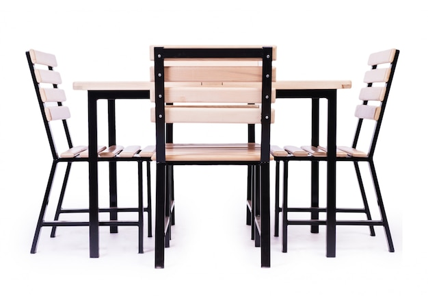 Mobilier de table isolé sur le blanc Photo Premium
