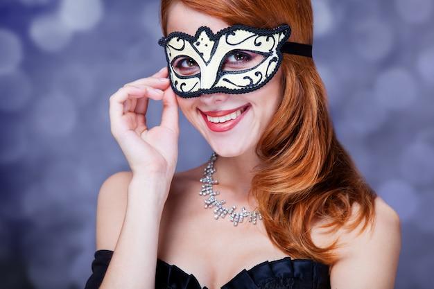 Mode femme avec masque. Photo Premium