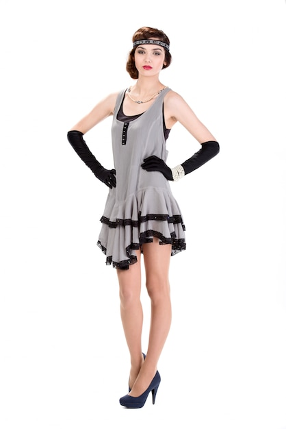 Mode femme à la mode des années 50 Photo Premium