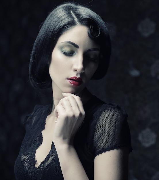 Mode portrait de femme, Photo Premium