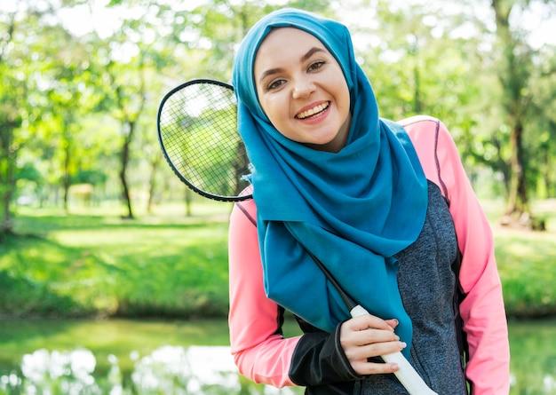 Mode de vie sain femme islamique Photo gratuit