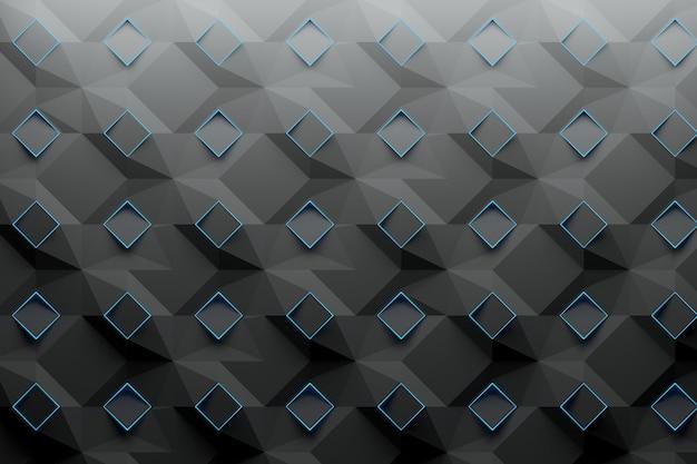 Modèle avec des carrés de losanges bleus Photo Premium