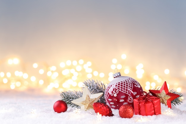 Modèle De Carte De Noël Photo Premium