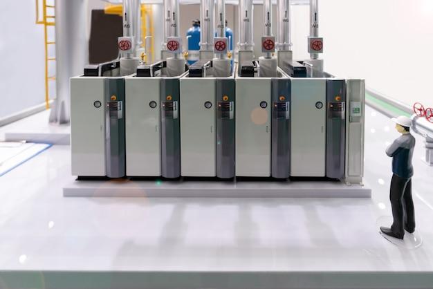 Modèle De Chaufferie Industrielle Moderne Avec Tableau De Commande D'équipement De Compresseur En Usine Photo Premium
