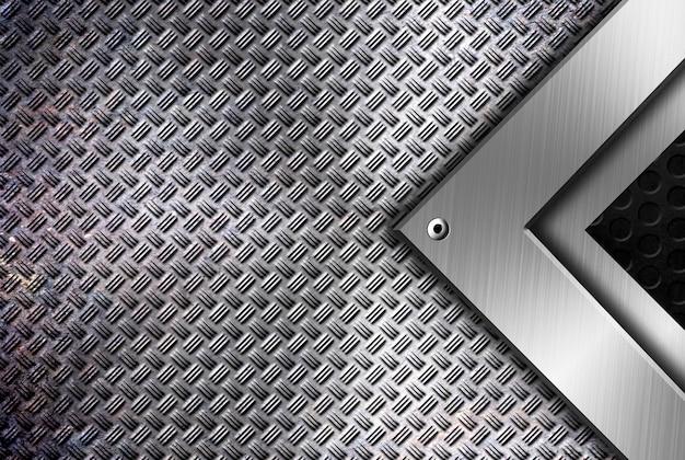 Modèle de fond de cadrage métallique moderne Photo Premium