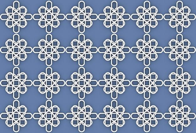 Modèle de forme de fleur ovale blanche transparente sur fond de mur bleu. Photo Premium