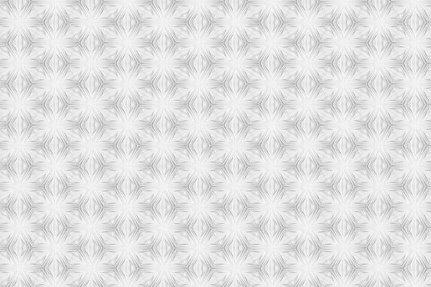 Modèle de géométrie de lumière tridimensionnelle avec fleurs à six pointes Photo Premium