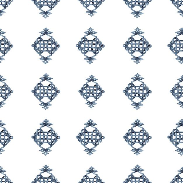 Modèle sans couture celtique tressé Photo Premium