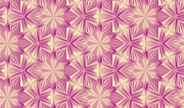 Modèle Sans Couture D'éléments Géométriques Complexes Entrelacés Les Uns Avec Les Autres Illustration 3d Photo Premium