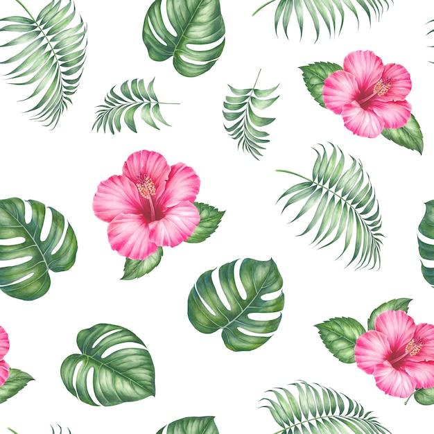 Modèle sans couture tropical. Photo Premium